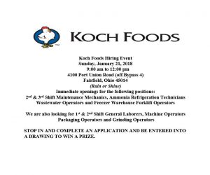 Koch Foods Job Fair Flyer